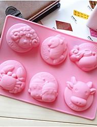 Fashion Silicone Twelve Zodiac Shape Cake Mold Modelling Cooking Tools Cake Decorating Bakeware Mould (Random Color)