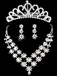 Fashion Jewelry Set(Necklace,Earrings,Crown)