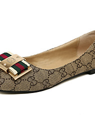 Women's Shoes Fabric Flat Heel Ballerina Flats Casual Black/Neutral