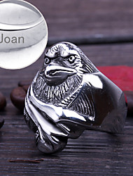 Personalized Gift Jewelry  Eagle Shaped Stainless Steel Engraved Men's Rings