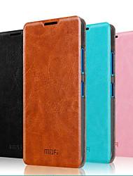Pour Coque Nokia Avec Support Clapet Coque Coque Intégrale Coque Couleur Pleine Dur Vrai Cuir pour NokiaNokia Lumia 640 Nokia Lumia 640