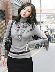 Pullover Aux femmes Manches Longues Décontracté Tricots Moyen