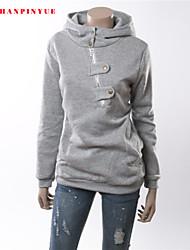 2015 Quality Cotton Women Fashion Sweatshirt Long Sleeve Hoodies Size S-2XL