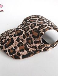 Katzen Hunde Kopftücher & Hüte Braun Hundekleidung Sommer Frühling/Herbst Leopard Urlaub