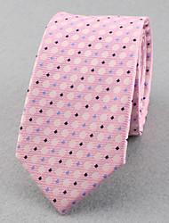 Corbatas ( Rosa , Poliéster )- Modelo/Puntos/Free Form