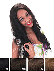 14''-20'' Natural Wave Remy Virgin Brazilian Human Hair Wigs Silk Base Lace Front Wigs With Baby Hair For Black Women