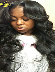 Fastest Free shipping 10-32 100% Brazilian Virign Remy Human Hair Body Wave African American Full Lace Wig