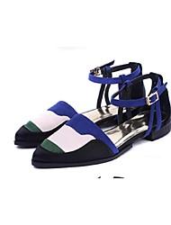 Women's Shoes  Flat Heel Comfort Pumps/Heels Outdoor Blue/Red