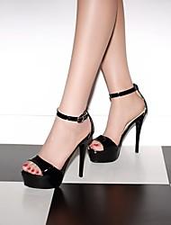 Women's Shoes  Stiletto Heel Platform/Open Toe Sandals Office & Career/Dress Black/Brown/Yellow/White/Beige