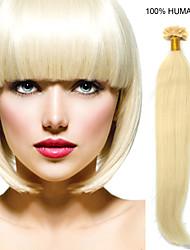 24inch Remy unha cabelo ponta 0,7 g / s extensões de cabelo humano 8 cores para mulheres beleza