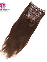 20 inch 7pcs 95g / set geheime stylist au 100% indian remy maagd menselijk haar clip in hair extensions
