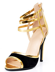 Women's Shoes Patent Leather Stiletto Heel Open Toe Sandals Party & Evening/Dress/Casual Gold