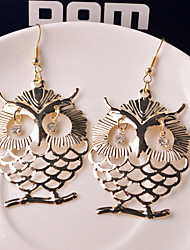 Top Quality European Style Owl Shape Drop Earrings for Wedding Party