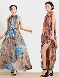 NUNEU   Women's Sexy Off-the-shoulder Sleeveless Dresses (Chiffon)