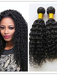 3pcs / lot barato brasileira afro Kinky extensão cabelo encaracolado virgem trama do cabelo humano tece derramado&emaranhado livre
