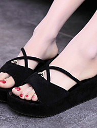 Women's Shoes Fashion Sweet Wedge Heel Creepers Sandals/Slippers