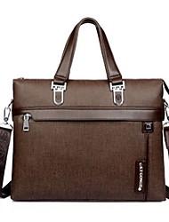 dos homens pu / casual / formal de escritório&carreira / professioanl usa sacos de ombro / totes - marrom