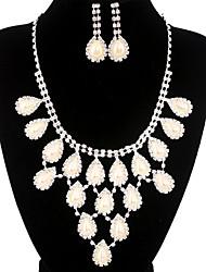 jóias de cobre prata moda longa queda totalmente strass ajuste 16