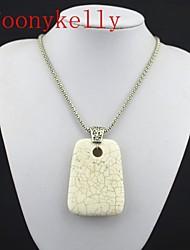 aspecto vintage collar toonykelly® beige natural piedra turquesa (1pc)