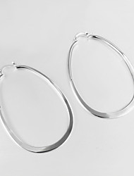 New Design 2015 Italy Style Silver Plated Africa Design Hoop Earrings Fashion Brand Jewelry for Women
