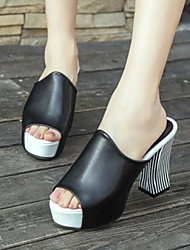 Women's Shoes Attracive Chunky Heel Peep Toe Sandals/Slippers
