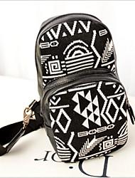 sac de toile d'épaule de baguette d 'unisexe - noir