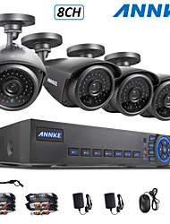 ANNKE® 8CH 960H DVR eCloud HDMI 1080P/VGA/BNC Output  4pcs 900TVL CMOS 42LEDS Day/Night IR-cut Cameras IP66