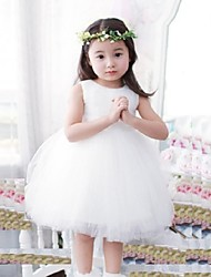 Girl's Elegant Solid Color Micro-elastic Thin Sleeveless Dress (100%COTTON LINED)