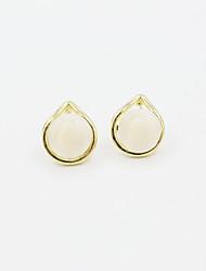 Earring Stud Earrings Jewelry Women Alloy / Cubic Zirconia / Gold Plated 1set Gold