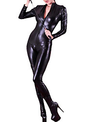 cuir verni noir pole dancing jumpsuit