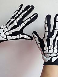fluoreszierende Skelett Geist Handschuhe (Farbe Versand zufällig)