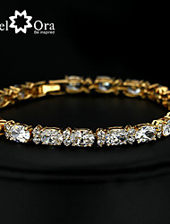 2015 New Brand JewelOra Fashion Women White Ruby CZ Charms Classic Tennis Bracelets