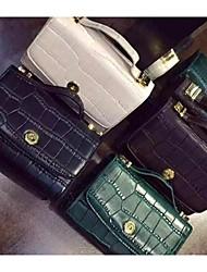 Women 's PU Baguette Shoulder Bag - White/Blue/Green/Black