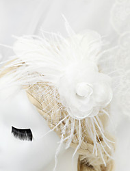 Women's / Flower Girl's Feather / Chiffon Headpiece-Wedding / Special Occasion Fascinators 1 Piece