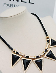 Punk Black Triangle Geometry In Europe Exaggerated Brief Clavicle Necklace