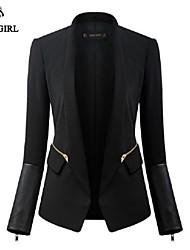 LIVAGIRL®Women's Jacket Fashion Long Sleeve Pocket Western-style Coat Korean Office Lady Style Casual Outwear