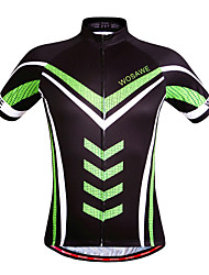 Wosawe® Cycling Jersey Unisex Short Sleeve Breathable / Quick Dry / Windproof / Moisture Permeability Bike Jersey / TopsPolyester / 100%