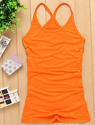 Women's Solid Red/White/Black/Orange/Yellow T-shirt Sleeveless