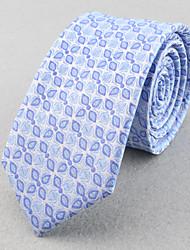 Corbatas ( Rosa/Azul Claro , Poliéster )- Modelo/Cuadrícula/Free Form