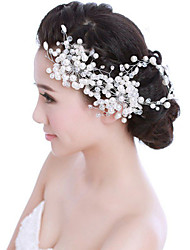 Bride's Crystal Pearl Forehead Wedding Headdress  Hair Accessories 1 PC