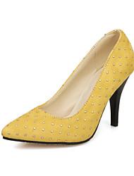 Women's Heels Spring Summer Fall Comfort Fleece Wedding Dress Party & Evening Stiletto Heel Sequin Black Yellow Red Orange Walking