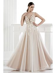ts-Couture-Abendkleid - A-Linie / Prinzessin scoop bodenlangen Tüll