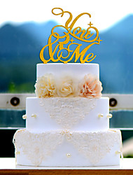 You and Me Acrylic Wedding Cake Topper