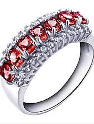 Flammable Volcano Female Fashion Natural Garnet Ring SR0154G Wine Red
