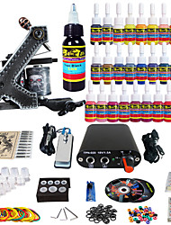 solong tattoo complete beginner tattoo kit 1 pro machinegeweer 28 inkten voeding naald grips tips