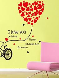 stickers muraux de style de décalcomanies de Wall Mur amour vélo de pvc autocollants