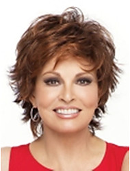Top Quality Fashion Short Light Brown Curly Wig Woman's Synthetic Wigs Hair