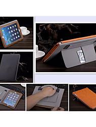 couleur unie auto cuir PU sommeil / réveil de cas cas d'enveloppe portefeuille pour iPad 2 d'air (de couleur assortie)