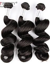 """3pcs / lot 8 """"-30"""" remy virginal peruana peruano suelta pelo de la onda natural de la trama del pelo negro del pelo humano"""