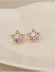 Ku Fashional High Quality Rhinestone Star Earrings